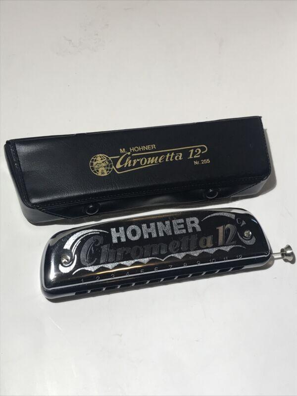 Hohner Chrometta 12, black comb, key of C, used/excellent