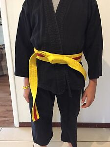 Karate outfits plus gloves for kids Duncraig Joondalup Area Preview