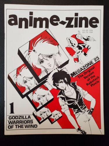 ANIME-ZINE 1 JAPANESE ANIMATION MAGAZINE MANGA GODZILLA GOJIRA TOHO 1986 NM RARE