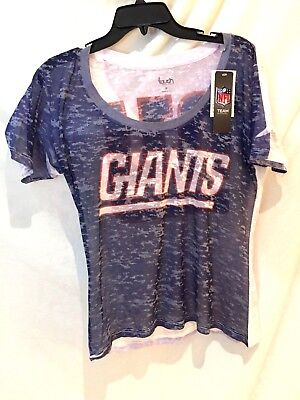 New York Giants burnout shirt-NFL 4 HER-Alyssa Milano Touch - New York Collection Milano