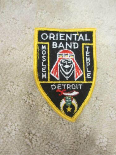 "Vintage Patch Masonic Shriners Moslem Temple Detroit Oriental Band 4""  *"