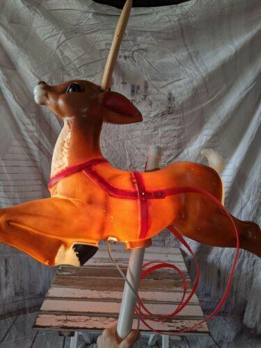 "General foam reindeer 35"" blow mold deer Xmas light up"