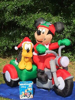 Gemmy Over 6' Mickey Mouse & Pluto Disney Lighted Christmas Airblown Inflatable