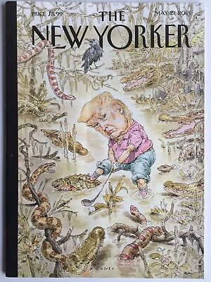 DONALD TRUMP / GOLFING IN THE SWAMP May 21, 2018 THE NEW YORKER Magazine