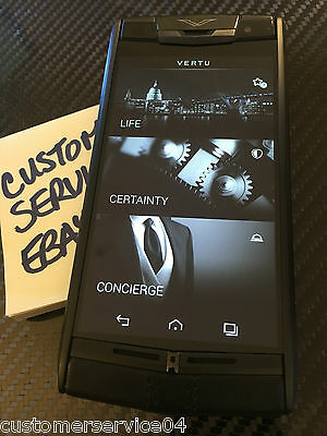 Real Brand NEW Vertu Signature Touch PURE JET Calf leather Luxury Phone!