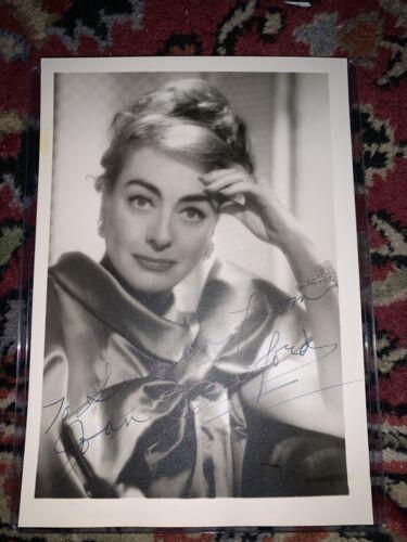 Joan Crawford Signed 5x7 - $90.00