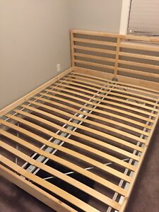 IKEA Queen sized bed and memory foam mattress