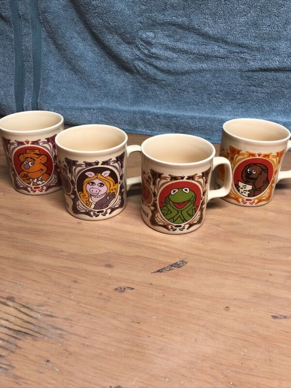 The Muppets Vintage 1978 Coffee Mugs. Ceramic