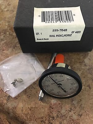 Brown And Sharpe 599-7040 Dial Indicator Dial Indicator .001 Horizontal Type