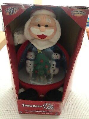 Gemmy Snow Globe Lights Plush Musical Animated Santa Christmas 15 Inch