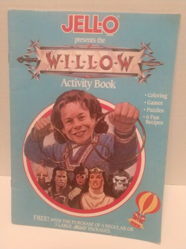 Jello Presents Willow Activity Book- Writing On One Page As Seen In Picture - $6.00