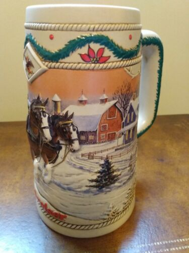 1996 BUDWEISER Holiday Stein