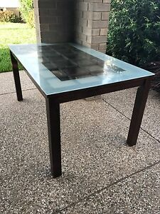 Glass top Dining table and 6 dining chairs Enfield Port Adelaide Area Preview