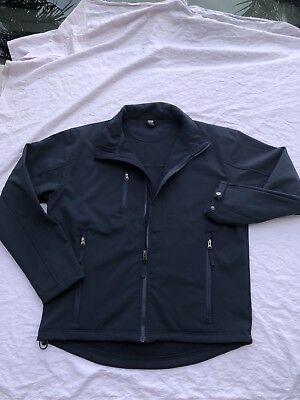 Jacket Fleece Lined Water Repellent (Cintas Navy Blue Work Jacket -Water Repellent -Fleece Lined - Size Medium Reg )