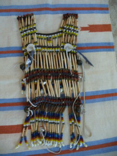VINTAGE NATIVE AMERICAN INDIAN CEREMONIAL DOUBLE BREASTPLATE