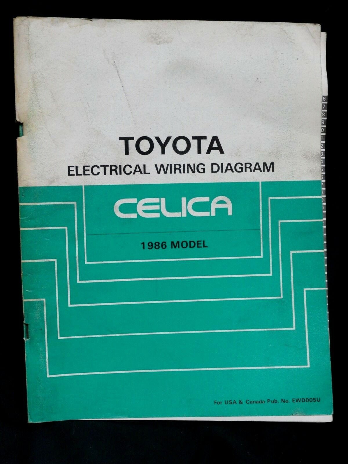 1986 * TOYOTA CELICA * OEM FACTORY DEALERSHIP * ELECTRICAL WIRING DIAGRAM MANUAL