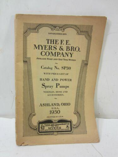 1930 F.E. Myers & Bro. Co. Catalog SP30 Ashland Ohio #AJ