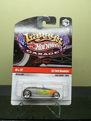 HOT WHEELS LARRYS GARAGE 33 FORD ROADSTER CHASE 18/20 REAL RIDERS SILVER