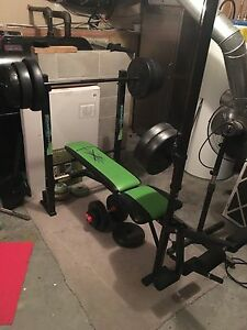 Weight Bench and Wieghts