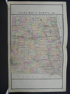 Dakota, Antique State Map, 1885 N1#13