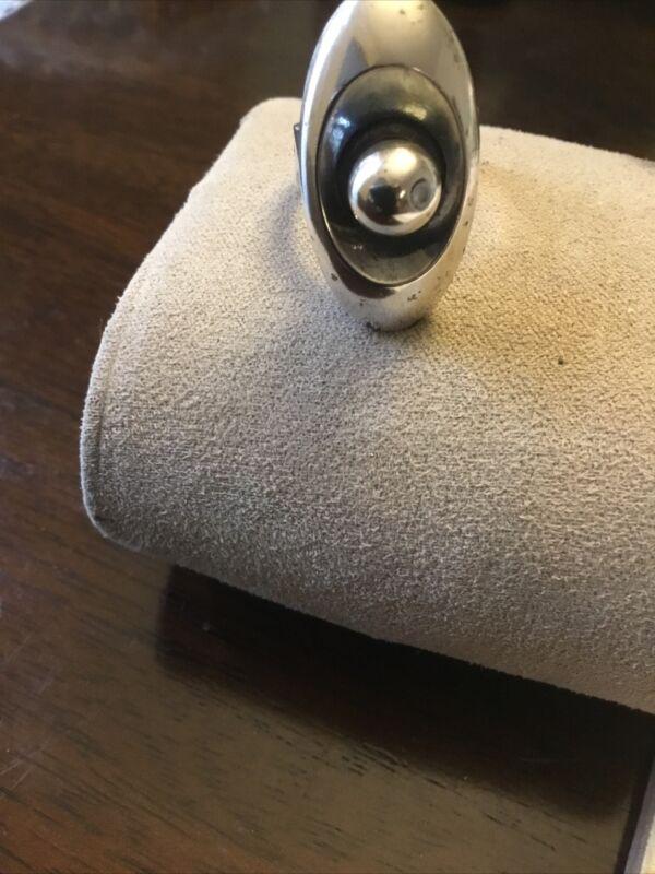 Vintage Erik Granit & Co Sterling Ring Adjustable Modernist