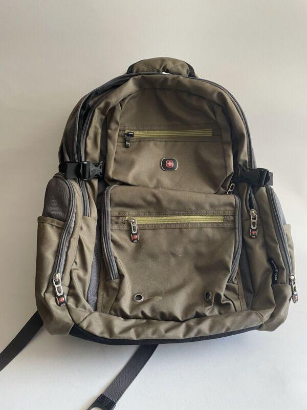Swiss Gear Breaker Laptop Backpack Size OS, Color: Olive