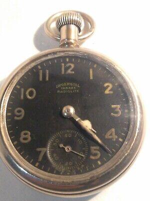 Antique Ingersoll USA Pocket-Watch 'Yankee' Radiolite 1912-1920 WWI-Era WORKS