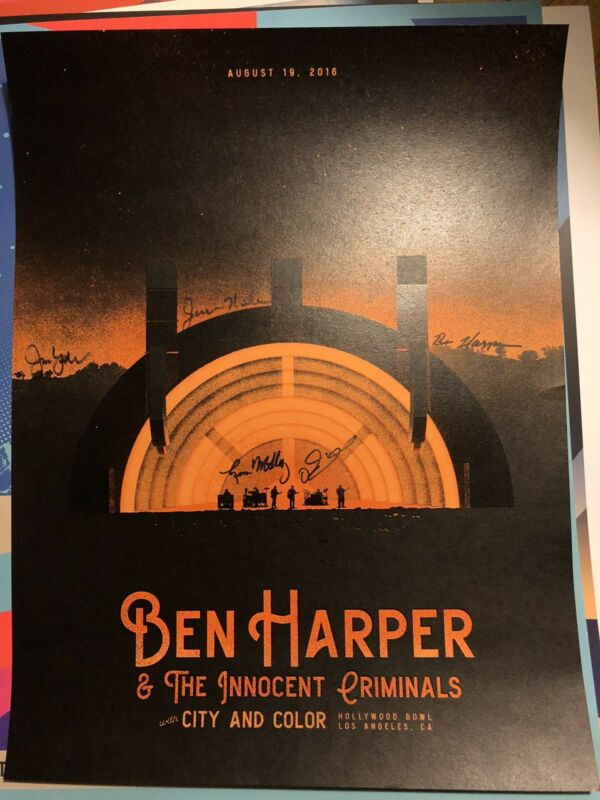 Ben harper And The Innocent Crimminals ***Autographed*** Poster