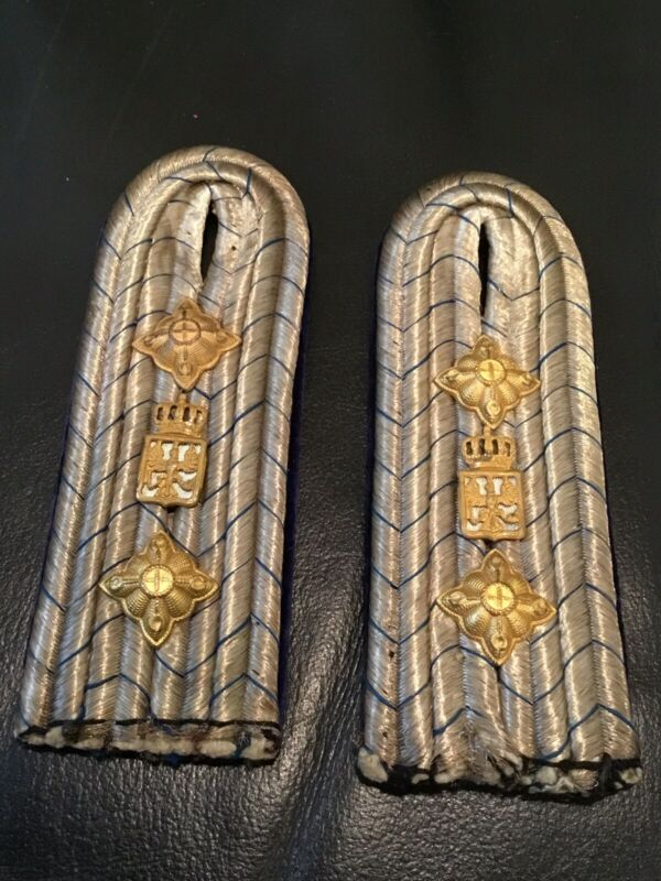 Imperial German, WW 1, Rare Prussian War Ministry Officer's Shoulder Boards