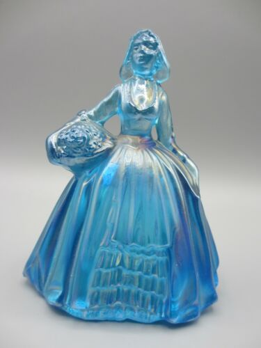 Wheaton Iridescent Carnival Glass Blue Pilgrim Women