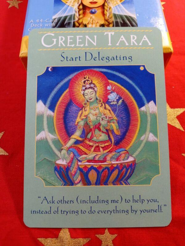 Green Tara - Single Card Replacement - Authentic Goddess Guidance Doreen Virtue