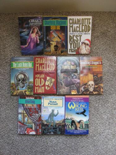 Lot 10 Charlotte Macleod Mystery novels (incl Writing As Alisa Craig) paperback