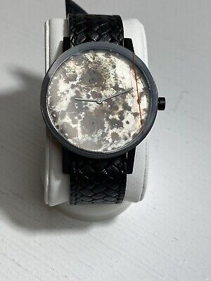 South Lane Swiss Quartz Stainless Steel And Leather Casual Watch Color Black
