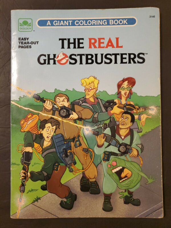 Vintage 1989 The Real Ghostbusters Golden Book Giant Coloring Book UNUSED RARE!