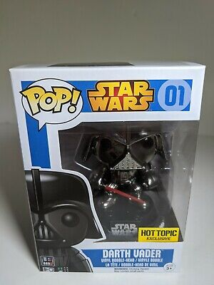 Funko Star Wars DARTH VADER #01 POP! Figure Metallic Hot Topic Exclusive NEW