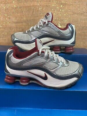 Nike Shox Turbo 9 Youth Shoes SIZE 5Y Athletic Running Sneaker Silver & Maroon