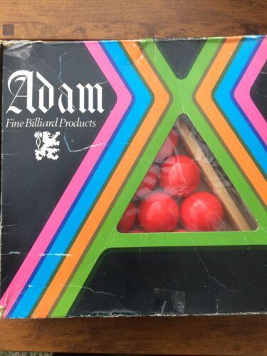 Vintage Adam Cast Phenolic Snooker Ball Set with Triangle