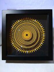 Clever clocks Hercules Mosaic wall clock 8.5 Handmade USA Artist signed Ser#48