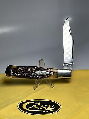 Case Tested XX 1920-40 Green Bone C61050 bowtie relief shield coke bottle knife