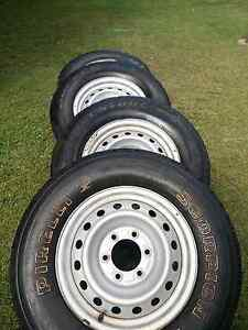 4 x HOLDEN RODEO STEEL RIMS, TYRES AND HUB COVERS! Capalaba Brisbane South East Preview