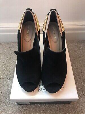 Kat Maconie Designer Black/Nude Opened Toe Shoes Women's Uk Size 5 Used With Box