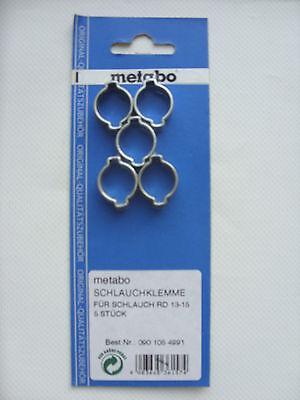Metabo 5 Schlauchklemme von Ø 13 - 15mm RD 13-15 0901054991 Schlauch Klemme