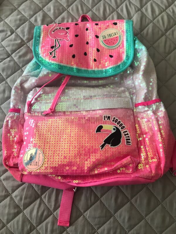 Justice Girls Full Size Watermelon Backpack Rucksack