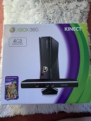 Microsoft Xbox 360 Kinect 4GB Black Console New And Used *NO Controller/READ
