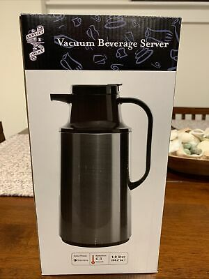 Service Ideas Hps191 Glass-lined Carafe Vacuum Insulated 1.9 L Stainless