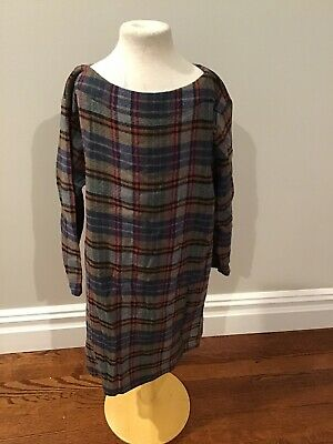 Bellerose Plaid Dress 12 Nwt