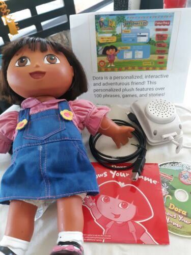 RARE DORA the EXPLORER DOLL, DORA KNOWS YOUR NAME, Toy Talks Sings  No Box