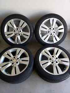Mercedes genuine 17inch wheels and tyres c class Cameron Park Lake Macquarie Area Preview