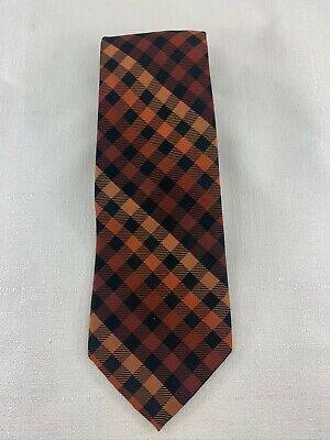 Croft & Barrow Men's Diamond Square Patterned Silk Tie Black/Orange Diamond Patterned Silk Tie