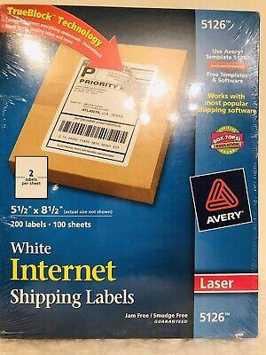 Avery Shipping Labels W Trueblock Technology Laser 5 12 X 8 12 White 200